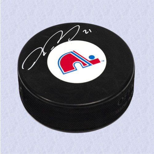 Peter Forsberg Quebec Nordiques Signed Official NHL Hockey Puck