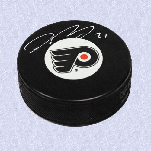 Peter Forsberg Signed Puck-Philadelphia Flyers Official Hockey Puck