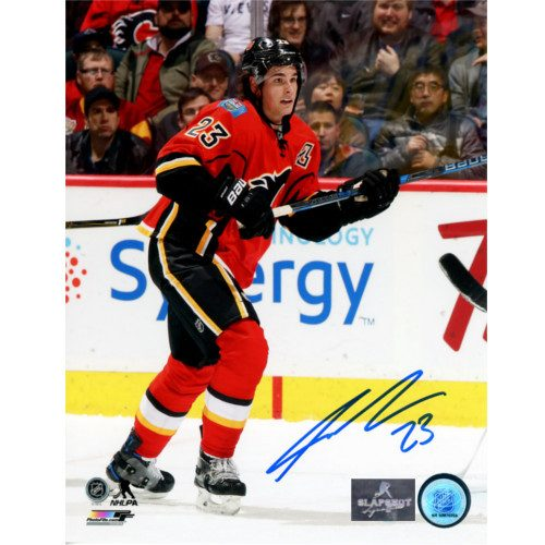 Sean Monahan Autographed Photo-Calgary Flames Hockey 8x10 Photo