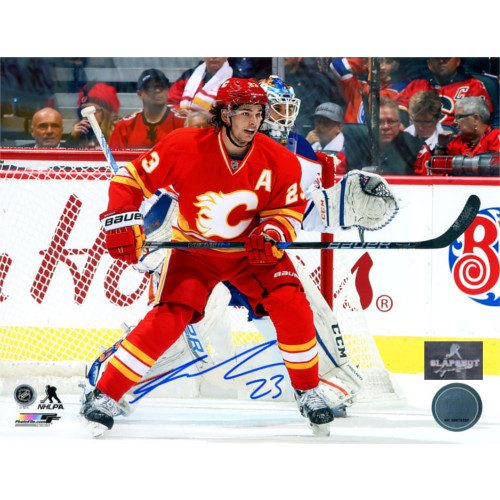 Sean Monahan Flames Signed Photo- Retro Third Jersey 8x10 Photo