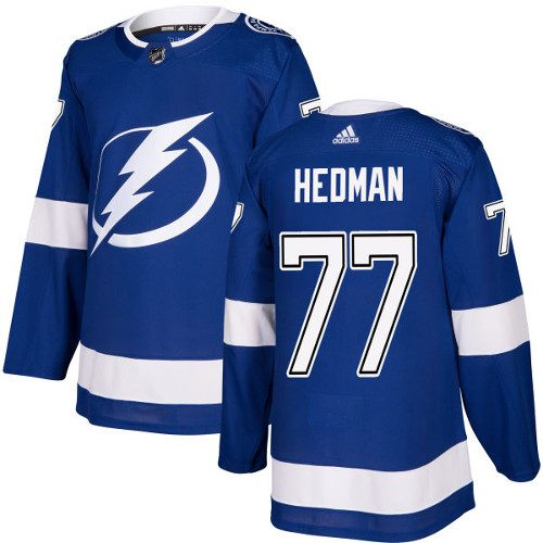 Victor Hedman Tampa Bay Lightning Adidas Authentic Home NHL Hockey Jersey