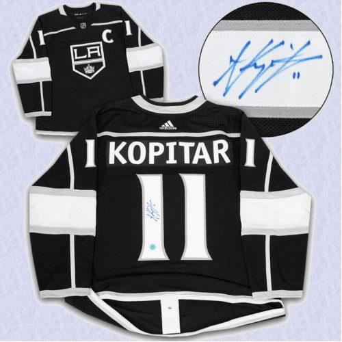 Anze Kopitar Adidas Jersey Autographed-Los Angeles Kings