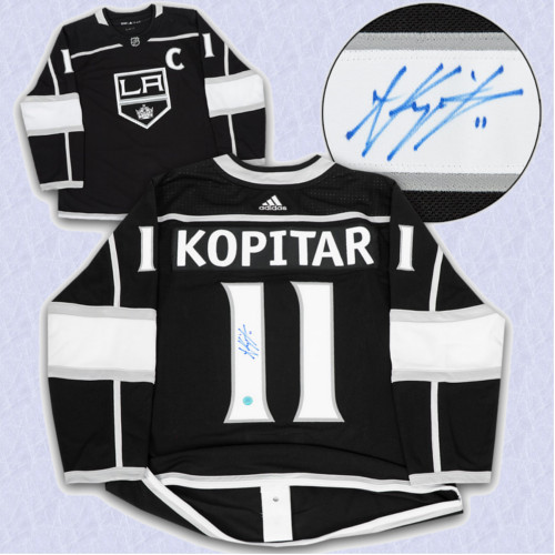 Anze Kopitar Adidas Jersey Autographed-Los Angeles Kings