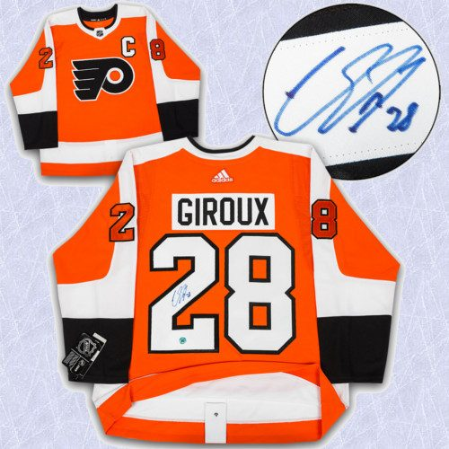 Claude Giroux Adidas Jersey Autographed Authentic-Philadelphia Flyers
