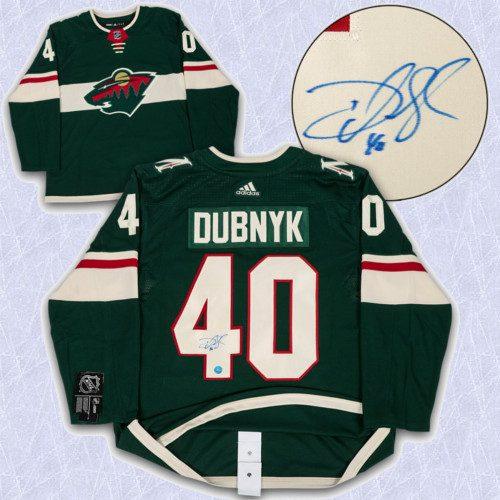 Devan Dubnyk Adidas Jersey Autographed-Minnesota Wild