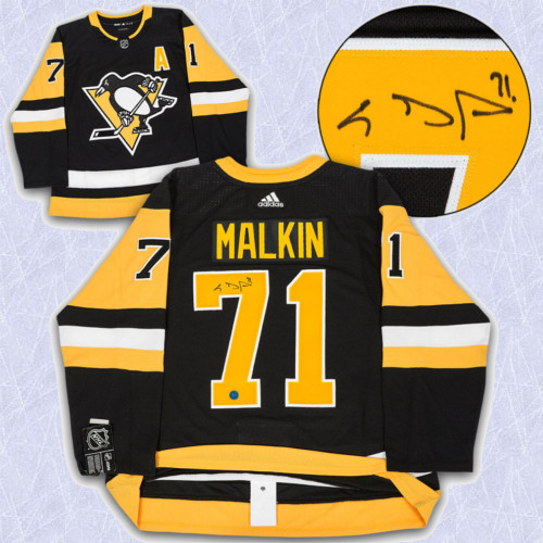 Evgeni Malkin Adidas Jersey Autographed Authentic-Pittsburgh Penguins