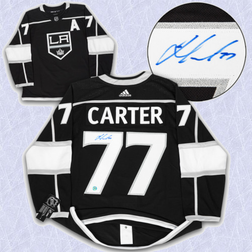 Jeff Carter Adidas Jersey Autographed-Los Angeles Kings
