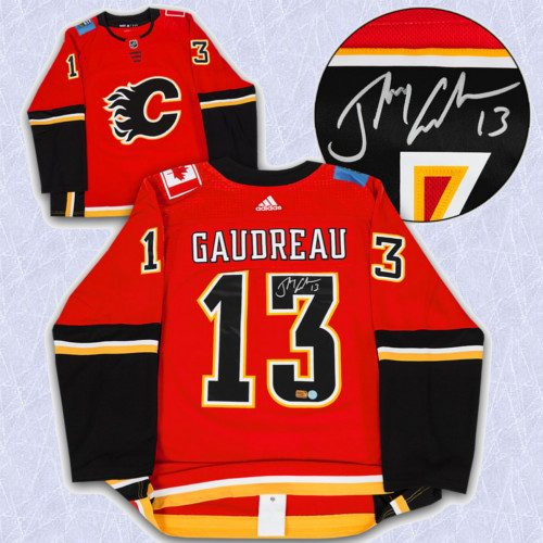 Johnny Gaudreau Adidas Jersey Autographed Authentic-Calgary Flames