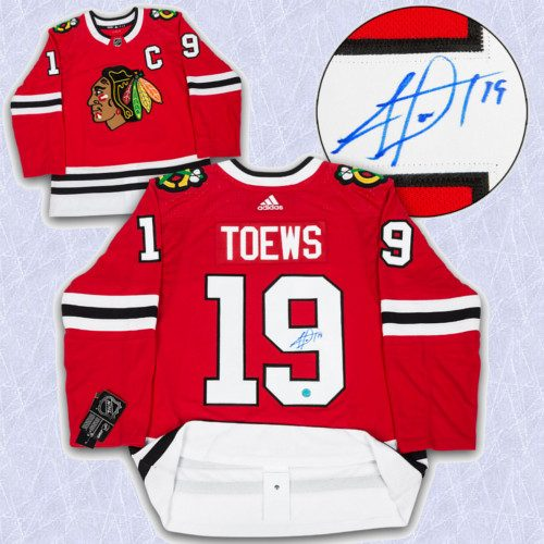 Jonathan Toews Adidas Jersey Autographed Authentic-Chicago Blackhawks