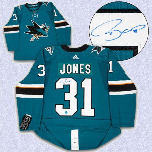 Martin Jones Adidas Jersey Autographed Authentic-San Jose Sharks