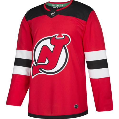 on sale 77c1f a65da New Jersey Devils Adidas Jersey Authentic Home NHL Hockey Jersey