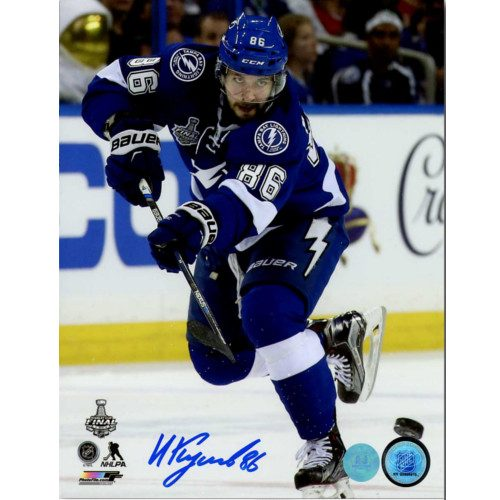 Nikita Kucherov Tampa Bay Lightning Signed 2015 Stanley Cup Final 8x10 Photo