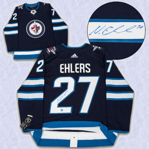 Nikolaj Ehlers Adidas Jersey Autographed-Winnipeg Jets
