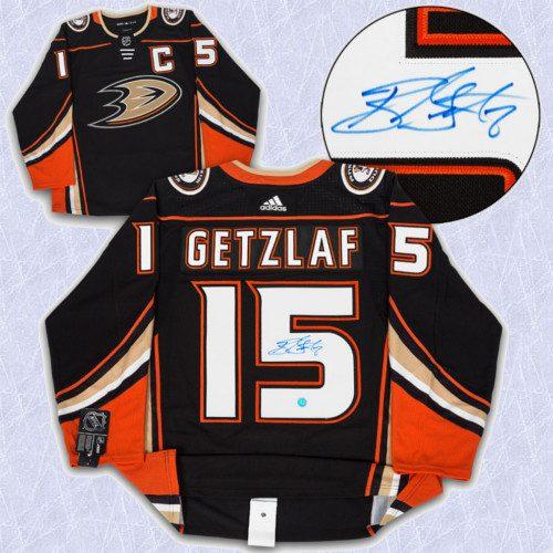 Ryan Getzlaf Adidas Jersey Autographed Authentic-Anaheim Ducks