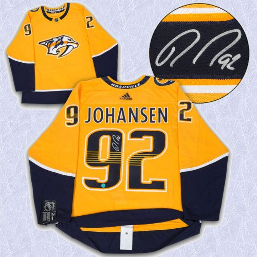 Ryan Johansen Adidas Jersey Autographed Authentic-Nashville Predators