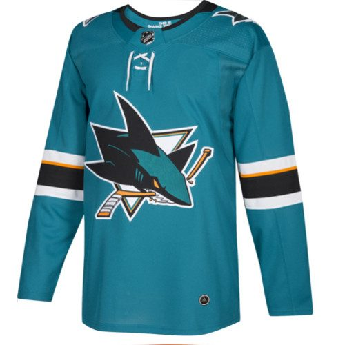 San Jose Sharks Adidas Authentic Home NHL Jersey