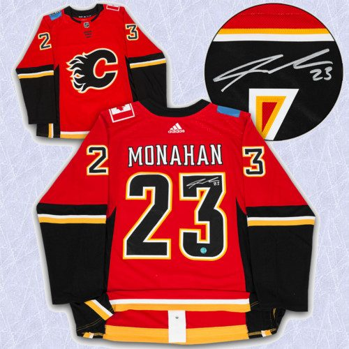 Sean Monahan Adidas Jersey Autographed Authentic-Calgary Flames