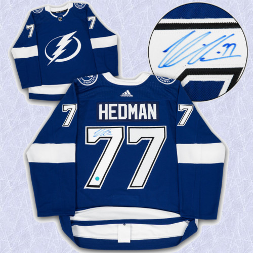 Victor Hedman Adidas Jersey Autographed Authentic-Tampa Bay Lightning
