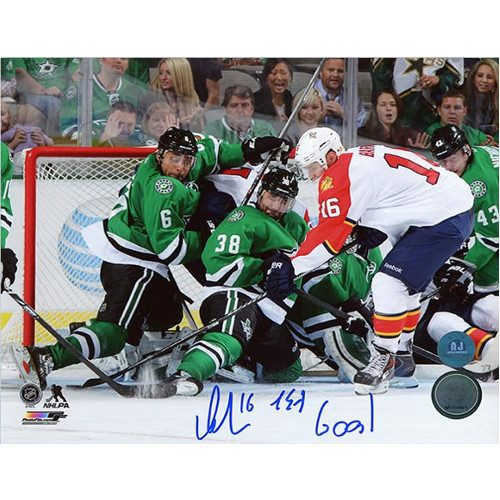 Aleksander Barkov Florida Panthers Autographed 1st Goal Inscribed 8x10 Photo