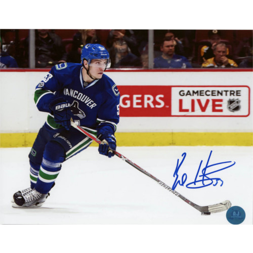 Bo Horvat Autographed Hockey Star Action 8x10 Photo-Vancouver Canucks