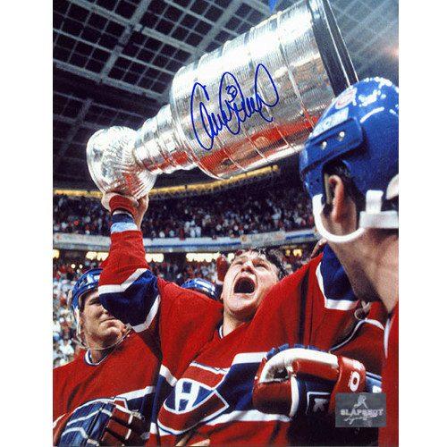 Claude Lemieux Montreal Canadiens Autographed 1986 Stanley Cup 8x10 Photo