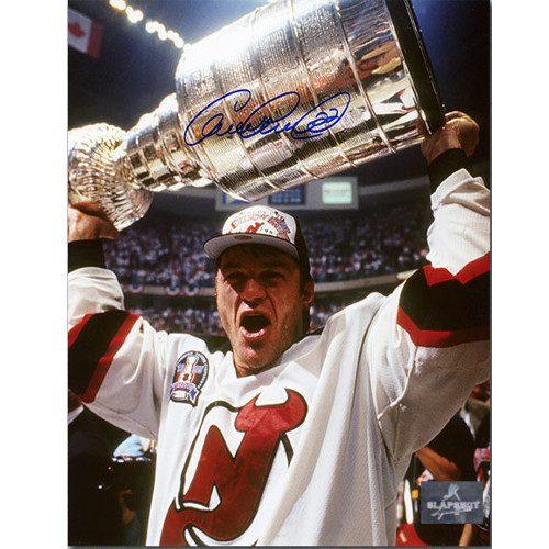 Claude Lemieux New Jersey Devils Autographed Stanley Cup 8x10 Photo