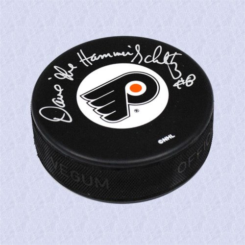 Dave Schultz Philadelphia Flyers Autographed Hockey Puck