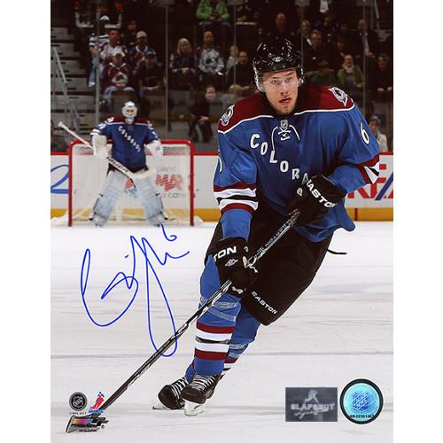 Erik Johnson Autographed Photo Colorado Avalanche Playmaker 8x10