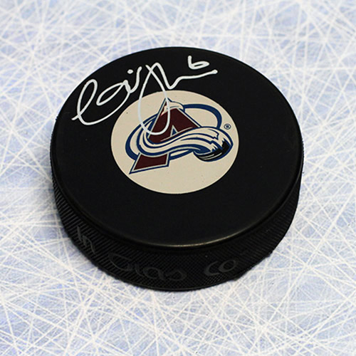 Erik Johnson Autographed Puck-Colorado Avalanche Hockey Puck