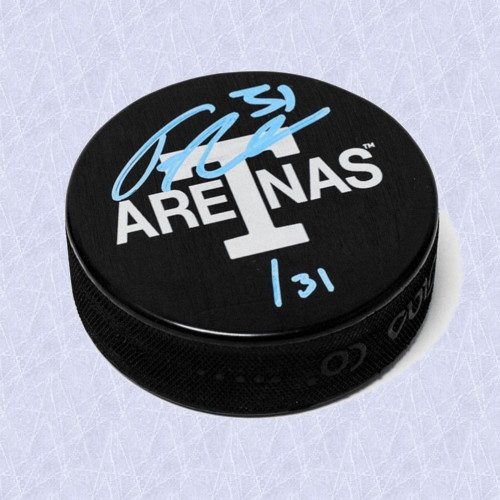Frederik Andersen Toronto Arenas Signed Maple Leafs Next Century Game Puck #31