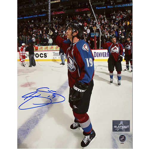 Joe Sakic Colorado Avalanche Autographed Last Playoff Game 8x10 Photo