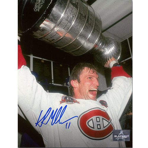 Kirk Muller Montreal Canadiens Autographed 1993 Stanley Cup 8x10 Photo