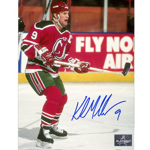 Kirk Muller New Jersey Devils Autographed Retro Captain 8x10 Photo