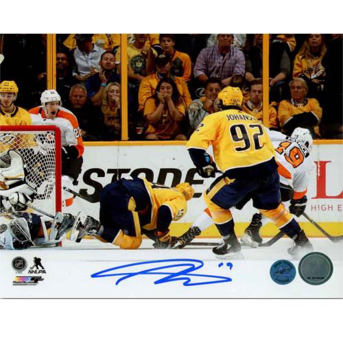 Nolan Patrick Autographed Philadelphia Flyers 1st NHL Goal 8x10 Photo