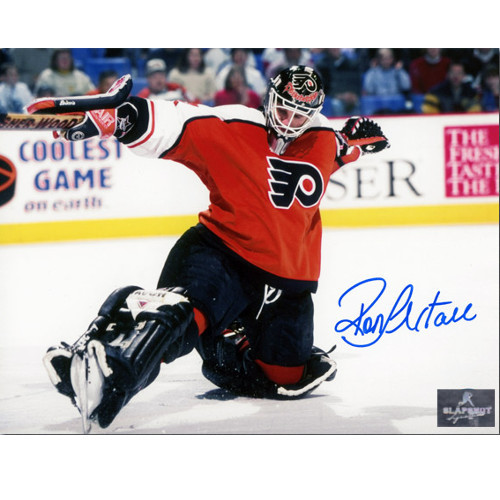Ron Hextall Autographed Philadelphia Flyers Kick Save 8x10 Photo