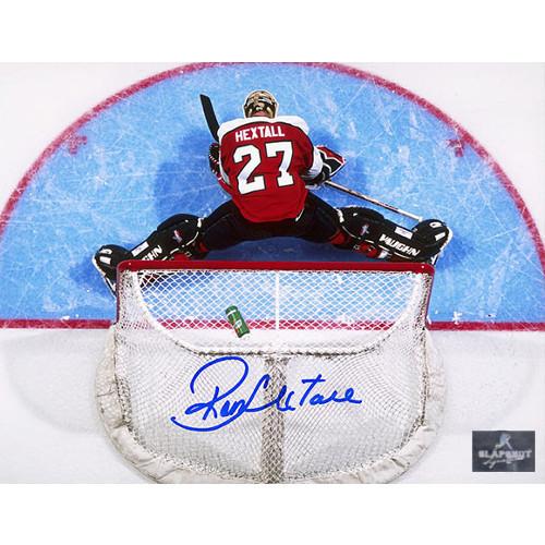 Ron Hextall Signed Philadelphia Flyers Overhead Crease 8x10 Photo