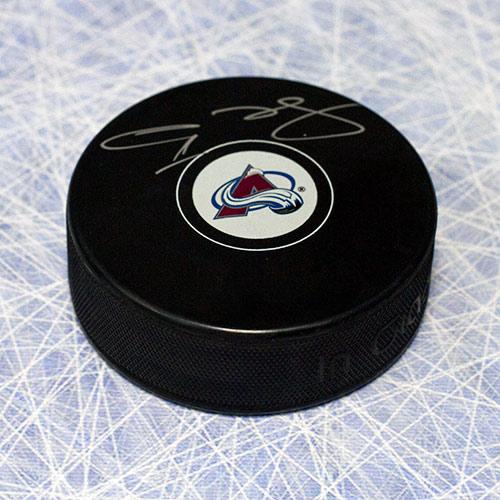 Semyon Varlamov Autographed Puck-Colorado Avalanche Hockey Puck