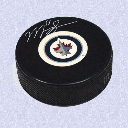 Mark Scheifele Autographed Hockey Puck Winnipeg Jets