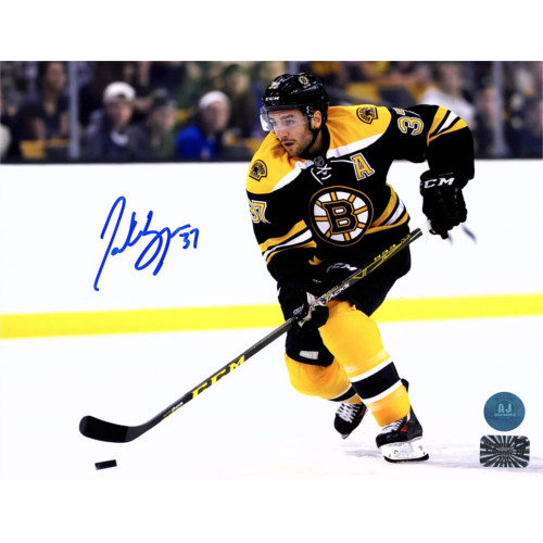 Patrice Bergeron Signed Boston Bruins 8x10 Playmaker Photo