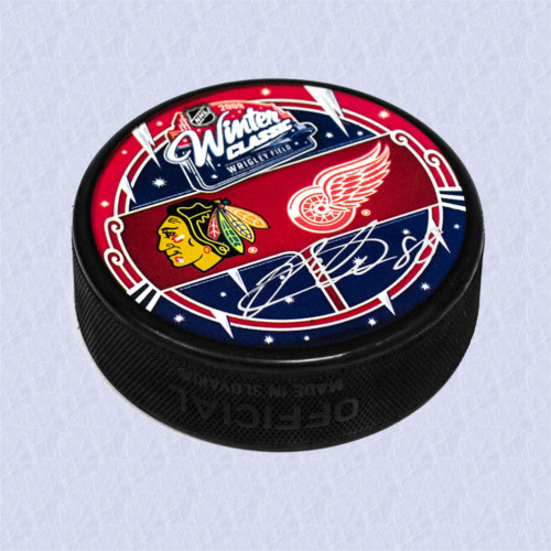 Patrick Kane Chicago Blackhawks Autographed 2009 Winter Classic Hockey Puck