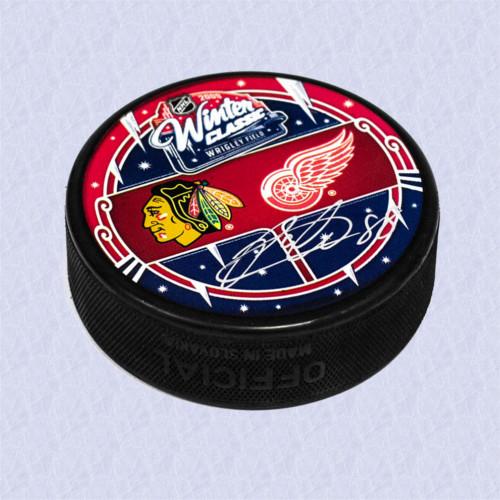 Patrick Kane Chicago Blackhawks Autographed 2009 Winter Classic Hockey Puck