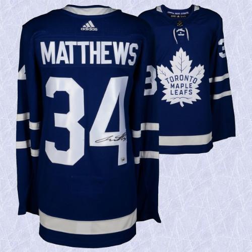 Auston Matthews Toronto Maple Leafs Signed Adidas Home Jersey