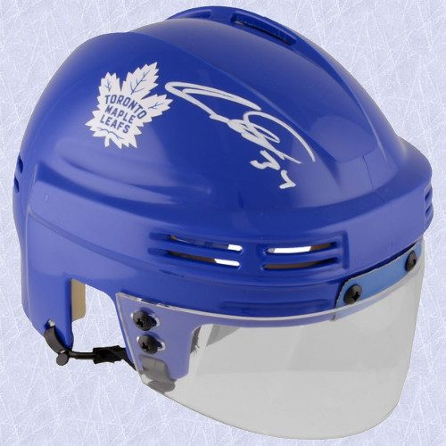 Auston Matthews Toronto Maple Leafs Signed Blue Mini Helmet