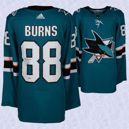 Brent Burns San Jose Sharks Signed Adidas Home Jersey
