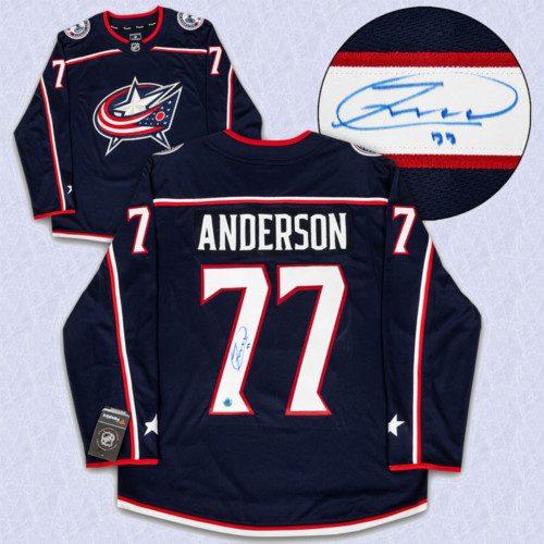Josh Anderson Columbus Blue Jackets Autographed Fanatics Hockey Jersey