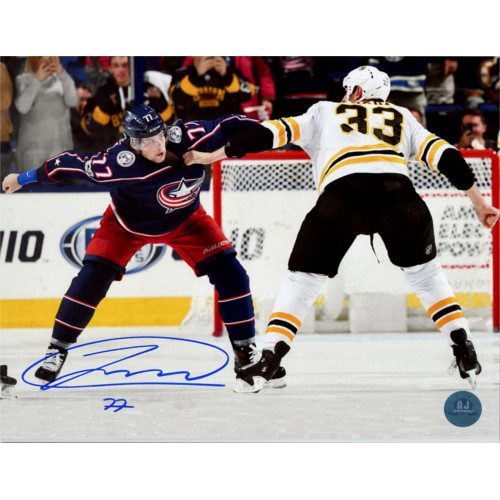 Josh Anderson Signed Columbus Blue Jackets 8x10 Fight Photo