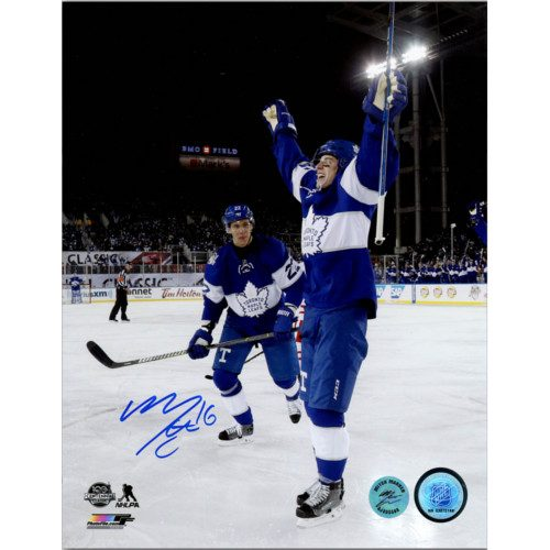 Mitch Marner Signed Toronto Maple Leafs 8X10 2017 Centennial Classic Photo