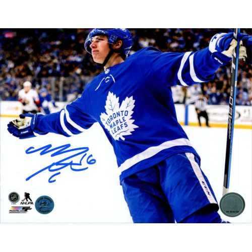 Mitch Marner Signed Toronto Maple Leafs 8X10 5 Point Game Photo