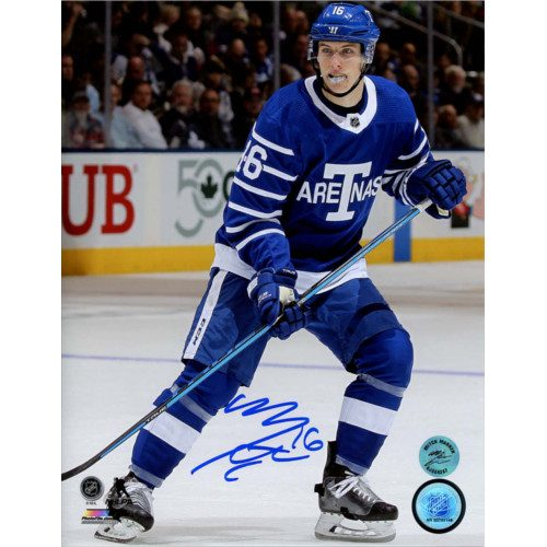 Mitch Marner Toronto Maple Leafs Signed 8X10 Next Century Game Photo
