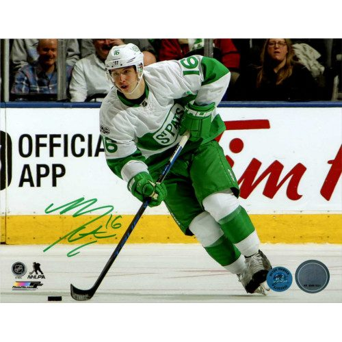Mitch Marner Signed Toronto Maple Leafs 8X10 St Pats Night Photo